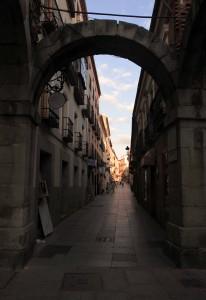Street in Avila.