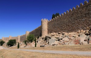 The Walls of Avila in the afternoon.