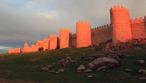 The Walls of Avila at sunset.