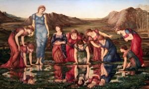 'The Mirror of Venus' by Sir Edward Burne-Jones (1877 AD).