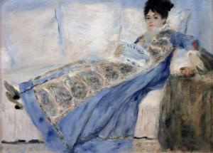 'Portrait of Madame Claude Monet' by Pierre-Auguste Renoir (ca. 1872-1874 AD).