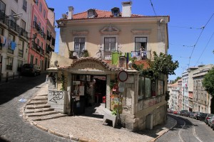 A restaurant in Alfama (Lisbon's oldest district).