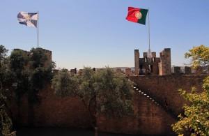 Part of São Jorge Castle's wall.