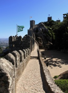 "The Castle of the Moors (or ""Moorish Castle"") in Sintra."