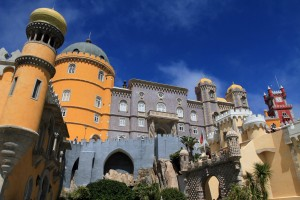 Pena Palace (built in the 19th-century AD by King Ferdinand as a summer palace).