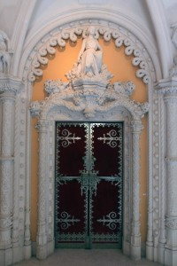 An ornate doorway in the palace.