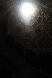 Looking up from the bottom of the Initiatic Well.