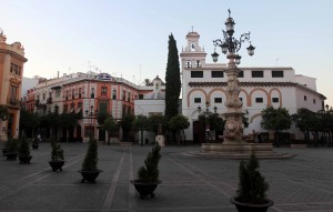 The Plaza de los Reyes in the morning.