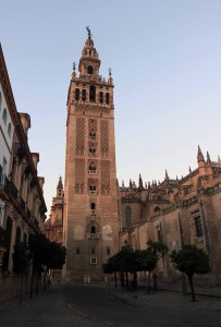 La Giralda - the bell tower of the Seville Cathedral (originally it was built as a minaret during the Moorish period, with a Renaissance style top subsequently added by Spaniards).