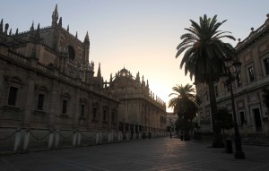 The south side of the Seville Cathedral.