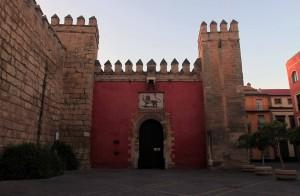 The entrance gate to the Alcázar of Seville (the Royal Palace).