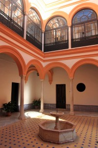 A courtyard in the Royal Palace.