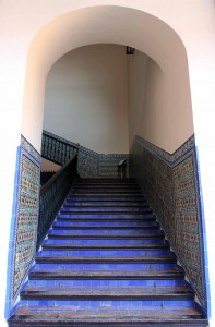 A staircase in the Royal Palace.