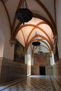 "One of the Halls of Charles V (or ""Vaults Hall"")."