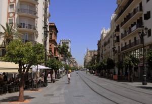 Looking north, down the Avenida de la Constitución.