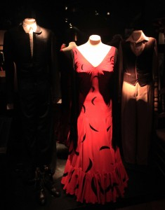 The flamenco dress that Cristina Hoyos wore while participating in the opening ceremony of the Barcelona Olympic Games in 1992 AD (on display in the Museo del Baile Flamenco).