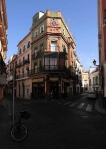 Street corner in Seville.