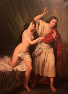 'Joseph and Potiphar's Wife' by Antonio Maria Esquivel (1854 AD).