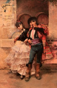 'Seville Couple Dancing' by Jose Garcia Ramos (1885 AD).
