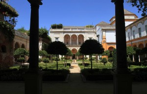 Garden at the Casa de Pilatos.