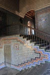 Staircase inside the Casa de Pilatos.
