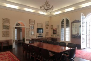 Conference room inside the American Legation.