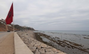 The coast north of Tangier's medina.