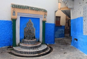 Fountain in Tangier's medina.