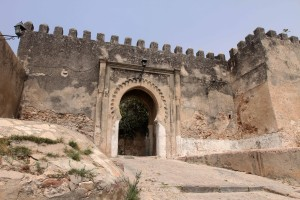 Entrance in the wall, leading to the Kasbah in Tangier's medina.