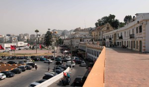 Looking south toward Mohammad VI Avenue and the corniche in Tangier.