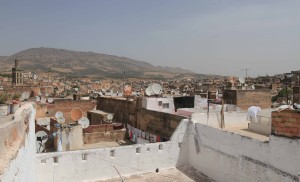 View of the medina in Fes from the rooftop of the hostel I stayed at.