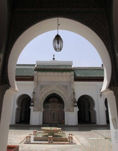 The entrance to the University of al-Qarawiyyin, which is considered the oldest continually operating university in the world.