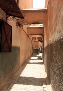 Empty street in Fes' medina.