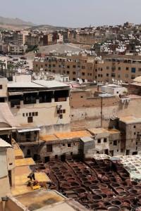 The Chouara Tannery in Fes' medina.