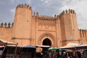 Wall and entranceway inside the medina.