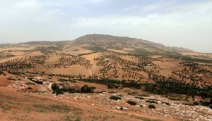 View of the countryside north of Fes.