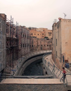 A canal through the medina in Fes.