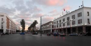 Mohammad VI Avenue in Rabat.