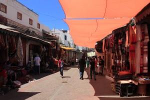 Shops along Rue des Consuls in the medina.