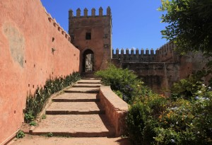 Walkway to the battlement on the south side of the Kasbah.