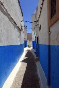 Narrow street in the Kasbah.
