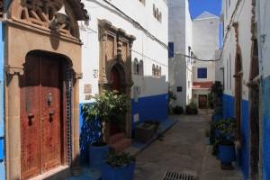Decorative doorways in the Kasbah.