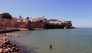 The Kasbah seen from the edge of the Bou Regreg River.