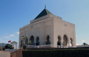 The Mausoleum of Mohammed V, where the tombs of the Moroccan king and his two sons, late King Hassan II and Prince Abdallah, are entombed.