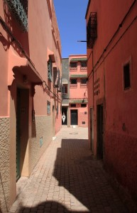 An alleyway in Marrakesh.