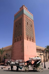 The minaret for the Moulay el Yazid Mosque.
