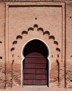 A doorway on the side of the mosque.