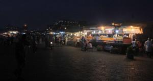 More food stalls lined up in Djemaa El-Fna.