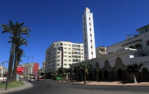 Al Yassir Mosque at Place Al Yassir in Casablanca.