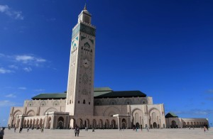 Hassan II Mosque - the largest mosque in Africa and the seventh largest in the world.